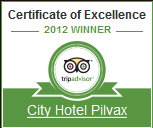 Certificate of Excellence - City Hotel Pilvax Budapest 2012