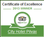 Certificate of Excellence - City Hotel Pilvax Budapest 2013