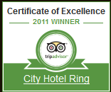 Certificate of Excellence - City Hotel Ring Budapest 2011