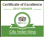 Certificate of Excellence - City Hotel Ring Budapest 2012